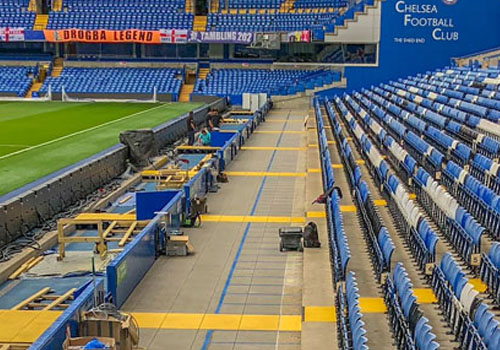 Stamford Bridge stand completed for Chelsea Football Club