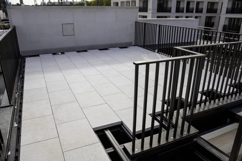 Alfresco Floors | Natural stone terrace | Chelsea Barracks